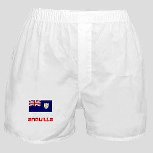 Anguilla Flag Retro Red Design Boxer Shorts