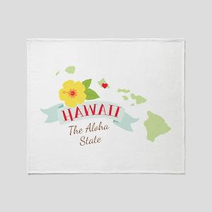 Hawaii Aloha Throw Blanket