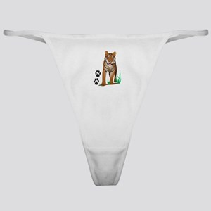 TIGER WITH PAW PRINTS Classic Thong