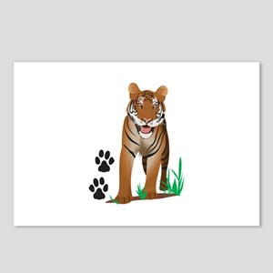TIGER WITH PAW PRINTS Postcards (Package of 8)