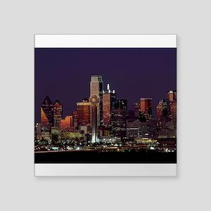 Dallas Skyline at Night Sticker