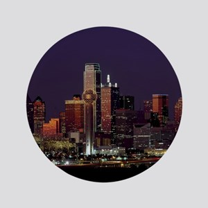 "Dallas Skyline at Night 3.5"" Button"
