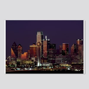 Dallas Skyline at Night Postcards (Package of 8)