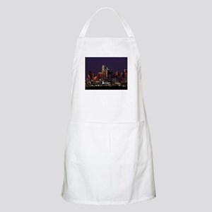 Dallas Skyline at Night Apron