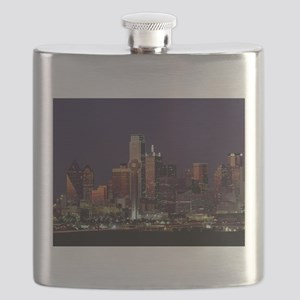Dallas Skyline at Night Flask