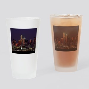 Dallas Skyline at Night Drinking Glass