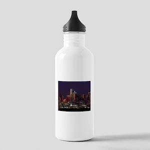Dallas Skyline at Night Water Bottle