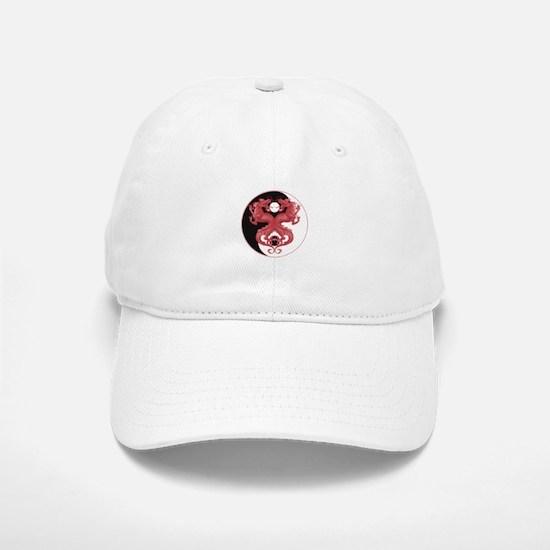 Yin Yang Dragons 3 Baseball Baseball Cap