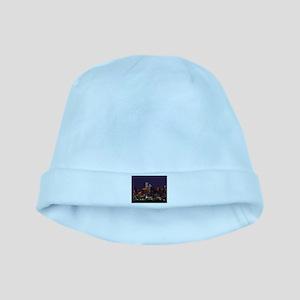 Dallas Skyline at Night baby hat