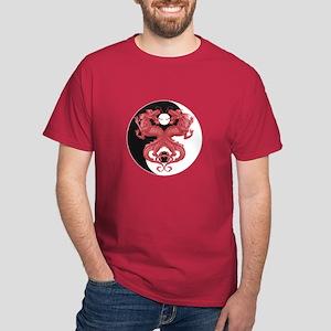 Yin Yang Dragons 3 Dark T-Shirt