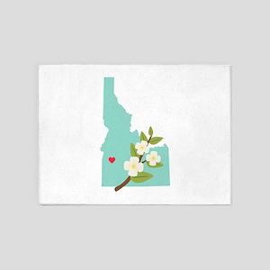 Idaho State Map 5'x7'Area Rug