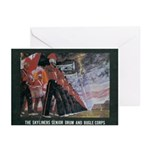 Portrait in Brass Greeting Cards(Pk of 10)