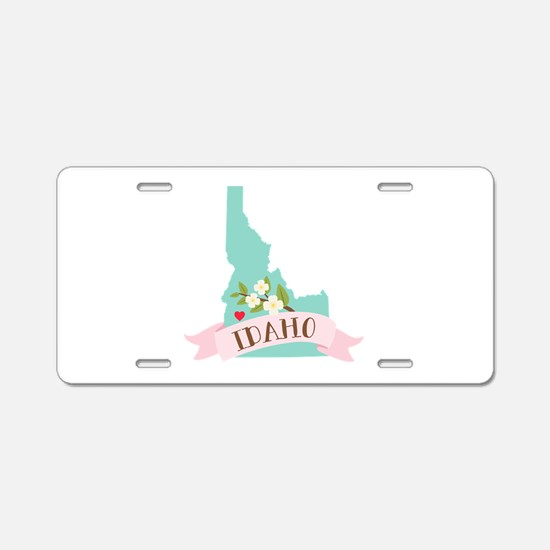 Idaho Flower Syringa Aluminum License Plate