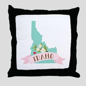 Idaho Flower Syringa Throw Pillow