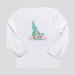 Idaho Flower Syringa Long Sleeve T-Shirt