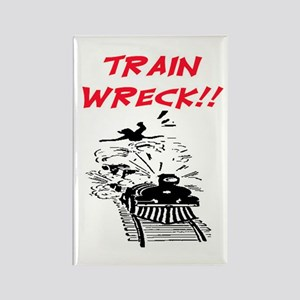 TRAIN WRECK Rectangle Magnet