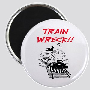 TRAIN WRECK Magnet