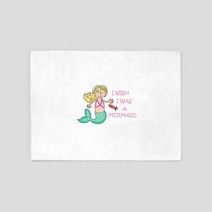 I Wish I Was A Mermaid 5'x7'Area Rug