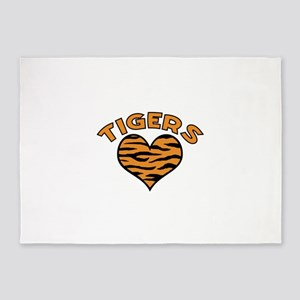 TIGERS 5'x7'Area Rug