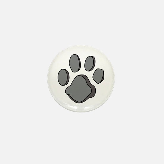 DOG PAW PRINT Mini Button