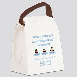 CHOCOLATE CUPCAKES Canvas Lunch Bag