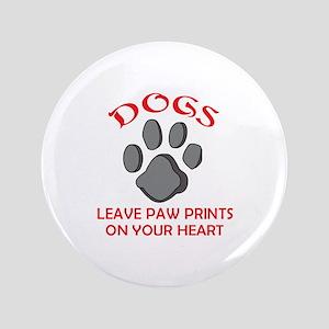 """DOG PAW PRINT 3.5"""" Button"""