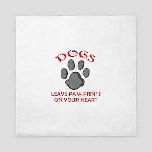 DOG PAW PRINT Queen Duvet