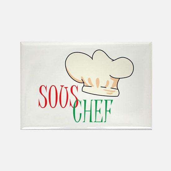 SOUS CHEF HAT Magnets