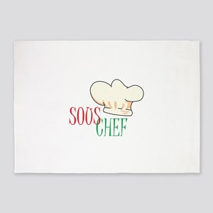 SOUS CHEF HAT 5'x7'Area Rug