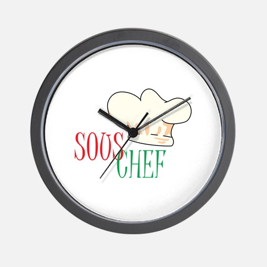 SOUS CHEF HAT Wall Clock