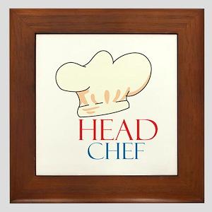 HEAD CHEF HAT Framed Tile