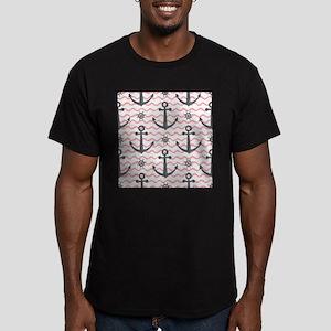 Anchors Men's Fitted T-Shirt (dark)