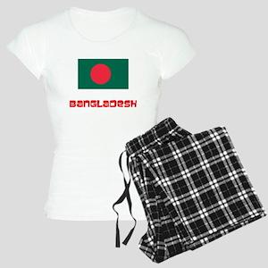 Bangladesh Flag Retro Red Design Pajamas
