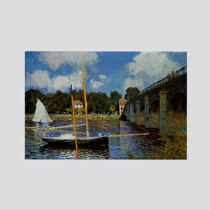 Monet - Road Bridge at Argenteuil Rectangle Magnet