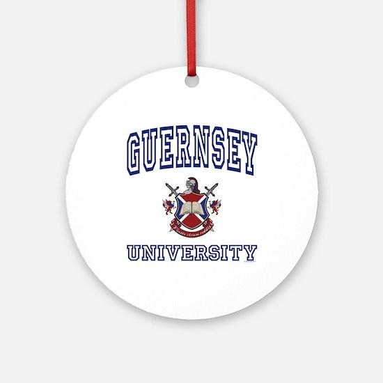 GUERNSEY University Ornament (Round)