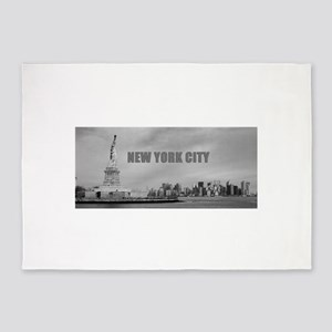 Stunning new New York City skyline 5'x7'Area Rug