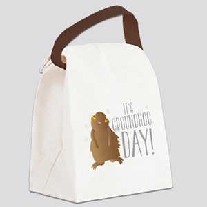 It's GROUNDHOG day! Canvas Lunch Bag
