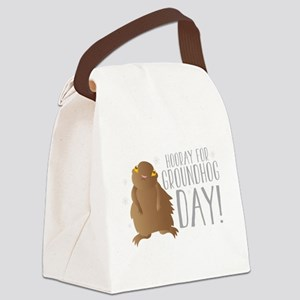 Hooray for GROUNDHOG day! Canvas Lunch Bag