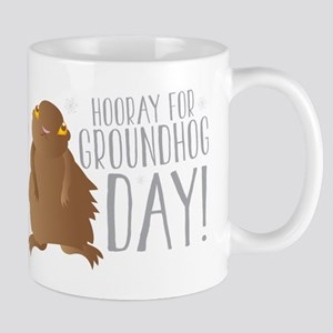 Hooray for GROUNDHOG day! Mugs