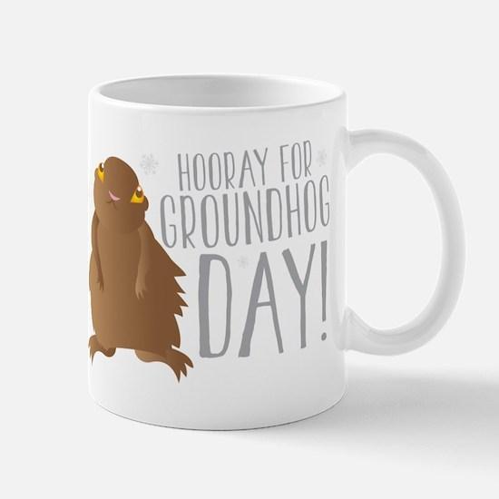 Hooray for GROUNDHOG day! Mugs