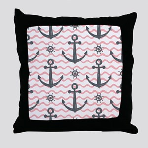 Anchors Throw Pillow