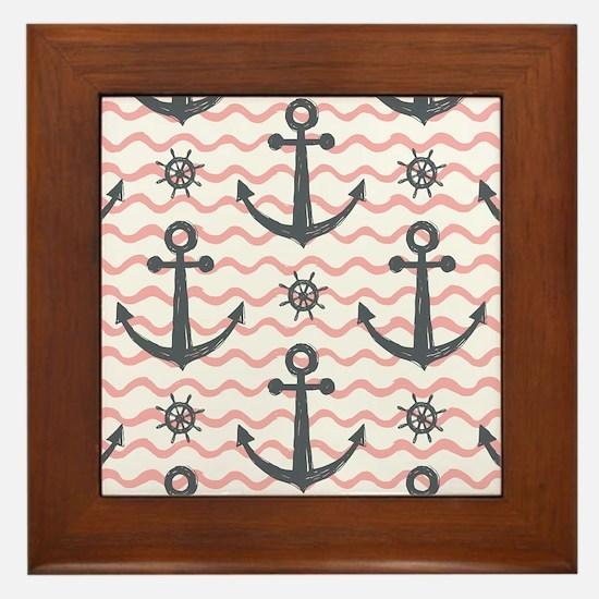 Anchors Framed Tile