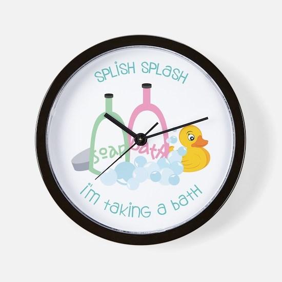 Splish Splash Wall Clock