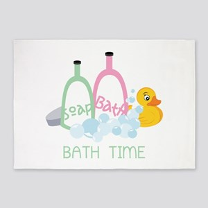 Bath Time 5'x7'Area Rug