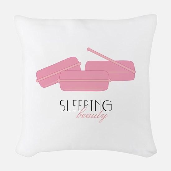 Sleeping Beauty Woven Throw Pillow