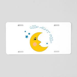 Good Night Moon Aluminum License Plate