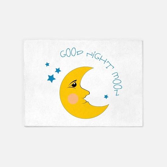 Good Night Moon 5'x7'Area Rug