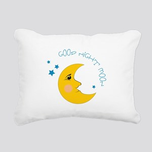 Good Night Moon Rectangular Canvas Pillow