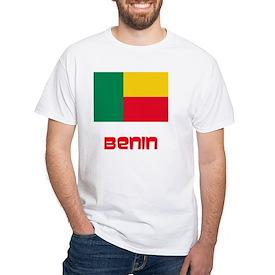 Benin Flag Retro Red Design T-Shirt