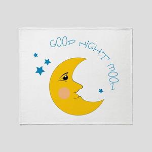 Good Night Moon Throw Blanket
